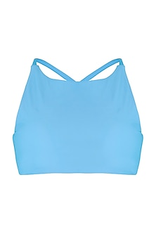 Sky Blue Halter Bikini Top by Pa.Ni Swimwear