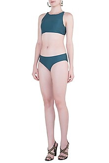 Green Hipster Bikini Bottom by Pa.Ni Swimwear