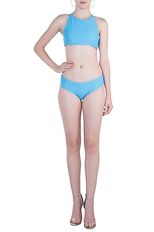 Sky Blue Hipster Bikini Bottom by Pa.Ni Swimwear