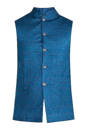 Cobalt Blue Bundi Jacket by Project Bandi