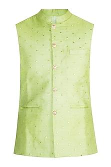 Lime Green Bundi Jacket by Project Bandi