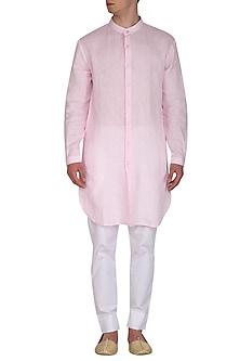 Pink & White Kurta Set by Project Bandi