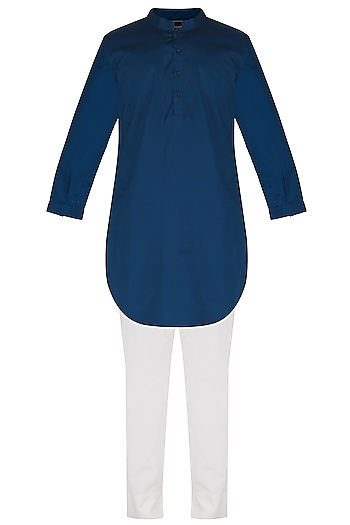 Cobalt Blue Kurta Set by Project Bandi