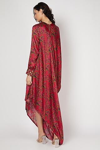 Red Printed Dress by Punit Balana