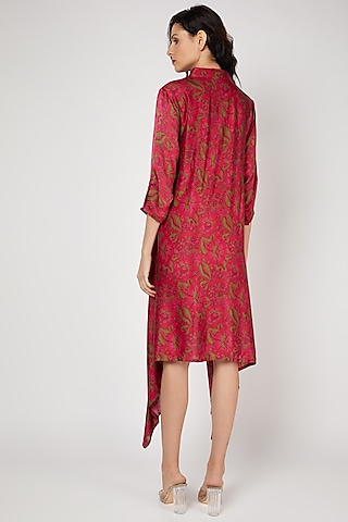 Red Printed Tunic by Punit Balana