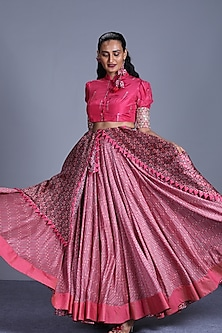 Pink Skirt Set by Punit Balana
