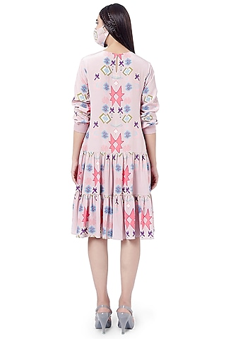 Pink Printed Layered Tunic by PS Pret by Payal Singhal