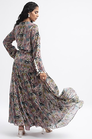 Pink Printed Boho Dress by PS Pret by Payal Singhal