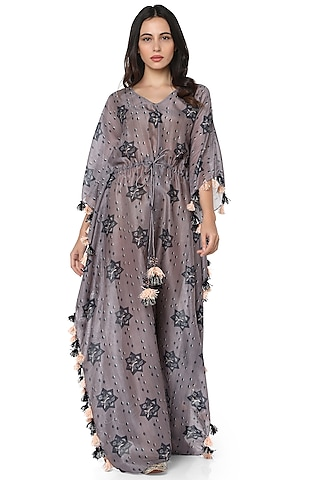 Purple Star Printed Kaftan by PS Pret by Payal Singhal