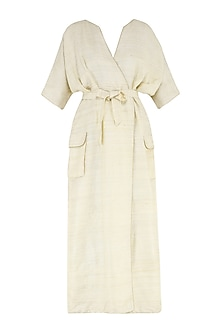 White kimono style dress by PABLE