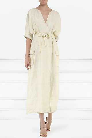 White kimono style dress by PABLE