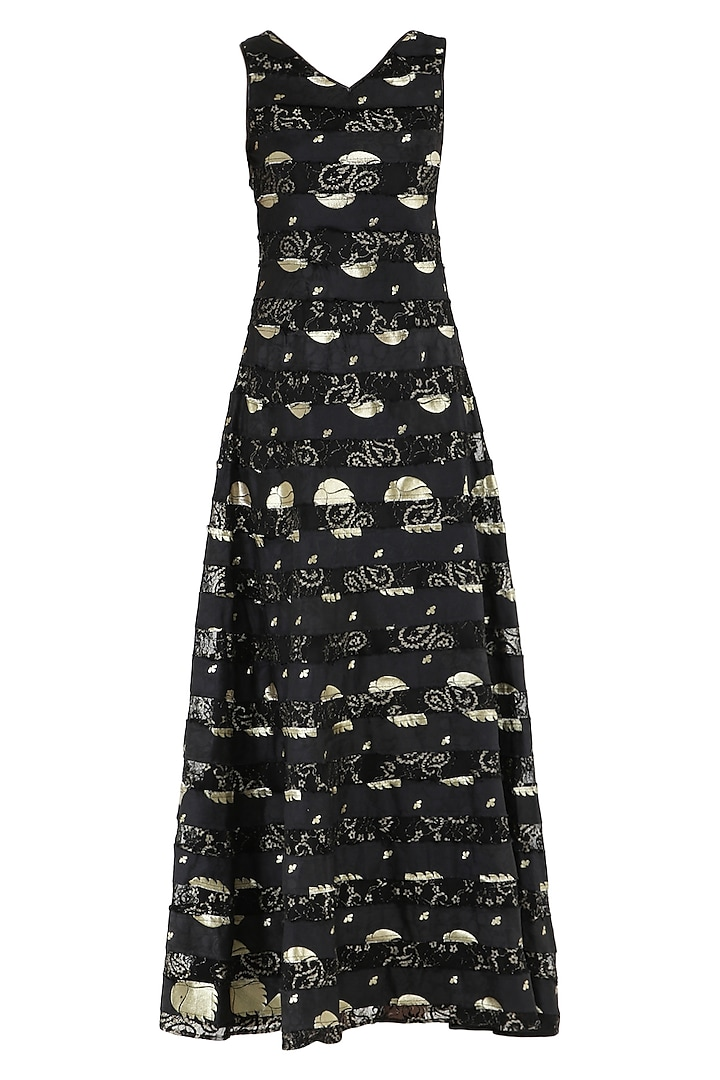 Black A-line maxi dress by PABLE
