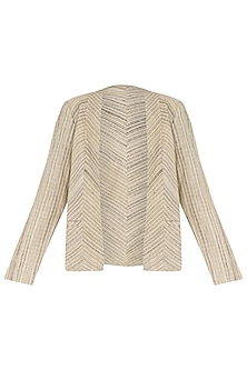 Beige Silk Jacket by PABLE
