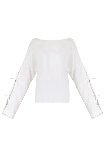 White Linen Top by PABLE