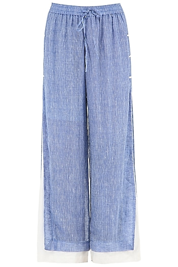 Blue and White Layered Pants by PABLE