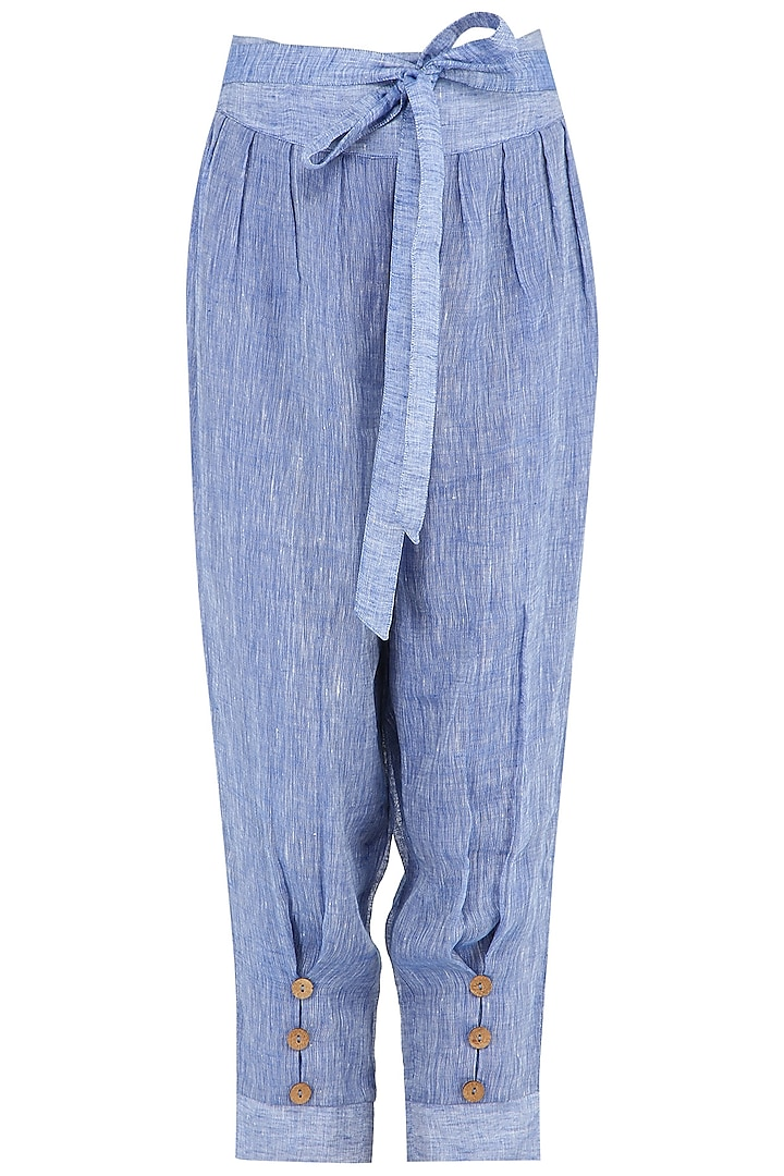 Blue Linen Pants by PABLE