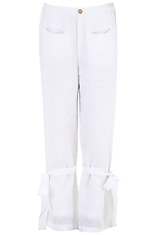 White Linen Pants by PABLE