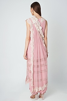 Blush Pink Embroidered Kurta Set by Priya Chhabria