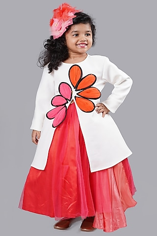 White Jacket With Applique by Pink Cow