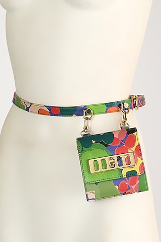 Multi Colored Prophets Song Print Belt Bag by Papa Don'T Preach By Shubhika