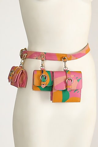 Multi Colored Seas Of Rhye Print Belt Bag by Papa Don'T Preach By Shubhika