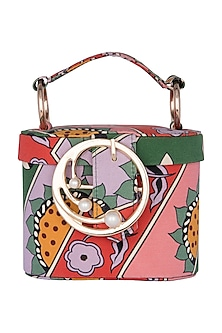 Multi Colored Printed Binocular Bag by Papa Don't Preach by Shubhika