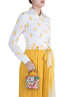 Multi Colored Printed Binocular Bag by Papa Don't Preach by Shubhika