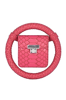Pink Handcrafted Spidey Bag by Papa Don't Preach by Shubhika