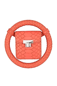 Orange Handcrafted Spidey Bag by Papa Don't Preach by Shubhika