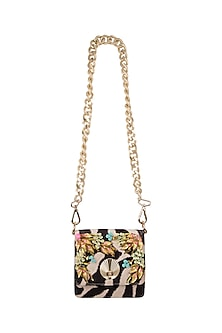 Multi Colored Embroidered & Printed Sling Bag by Papa Don't Preach by Shubhika