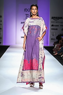 Multi-Colour Embroidered Maxi Dress by Poonam Dubey Designs
