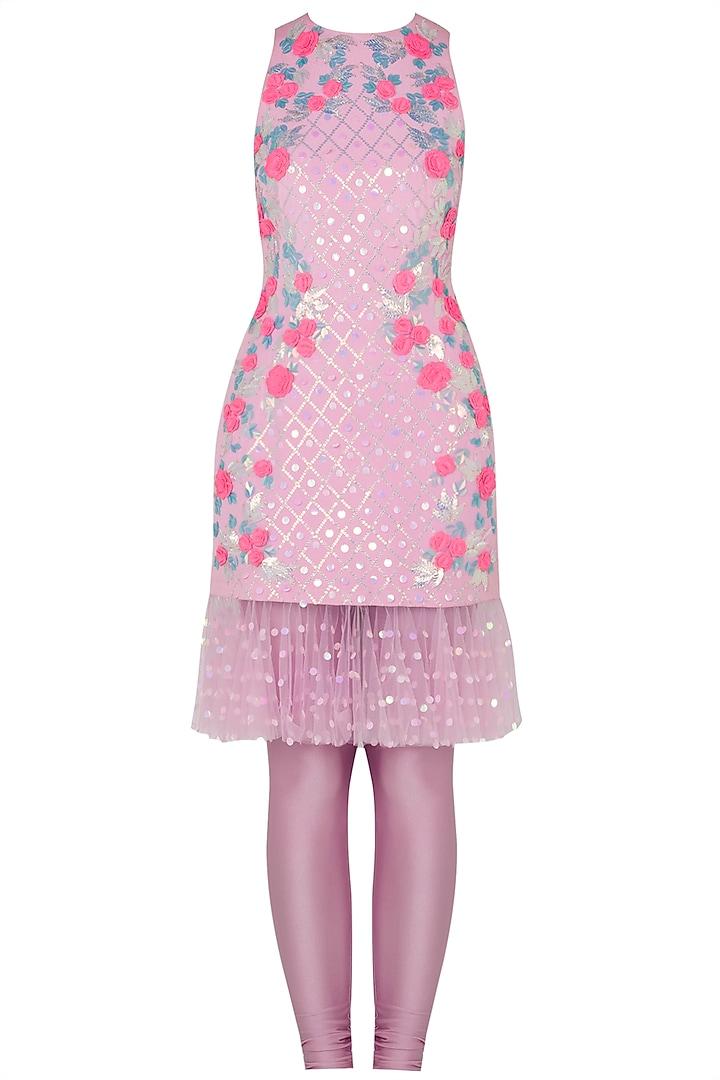 Blush Pink Embroidered Kurta by Papa Don't Preach by Shubhika