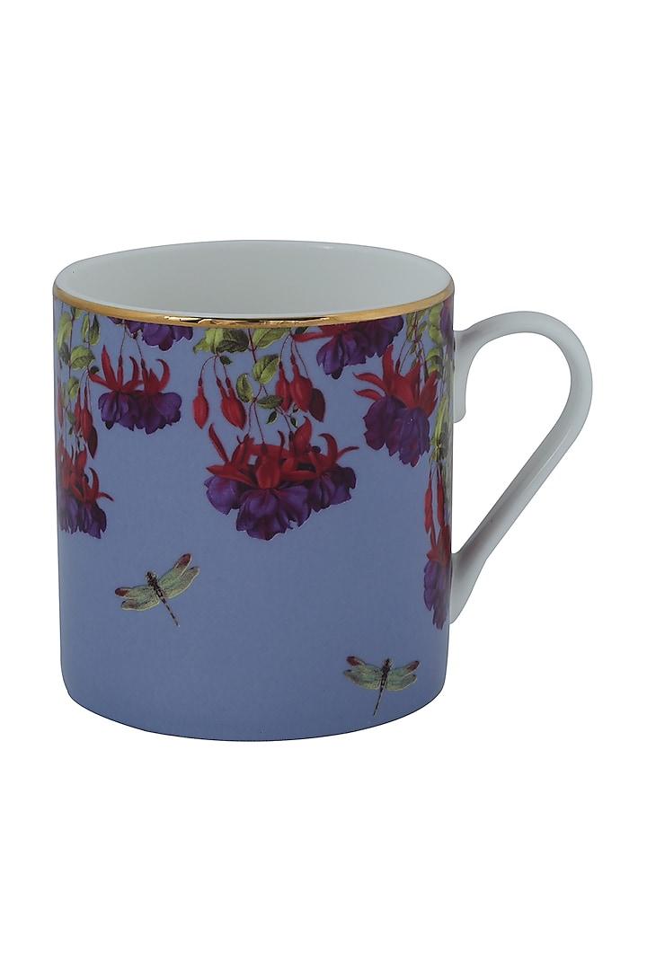 Lilac Fine Bone China Floral Mug (Set of 4) by Perenne Design