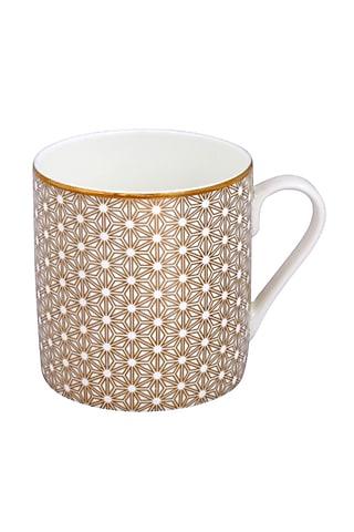 White Pure Gold & Fine Bone China Mug (Set of 4) by Perenne Design