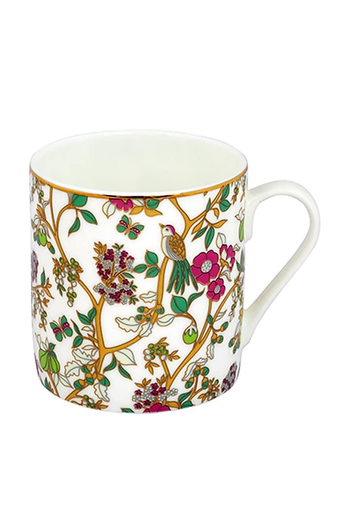 White Fine Bone China & Gold Mug (Set of 4) by Perenne Design