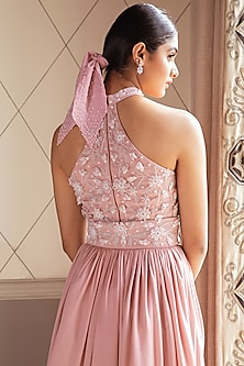 Blush Pink Embellished Lehenga Set by Pernia Qureshi