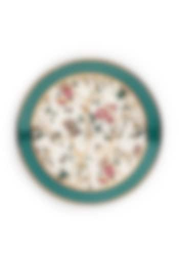 Pine Green Fine Bone China & Gold Tea Plate (Set of 4) by Perenne Design
