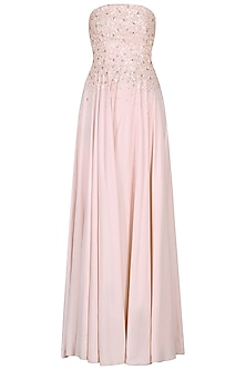 Pink Sequins and Crystal Embellished Jumpsuit by Pooja Peshoria
