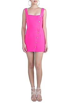 Hot Pink Asymmetrical Dress by Pernia Qureshi
