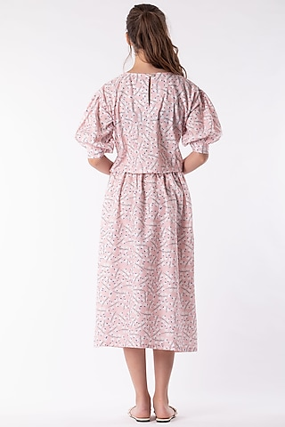 Blush Pink Cotton Polyester Skirt Set by Platform 9