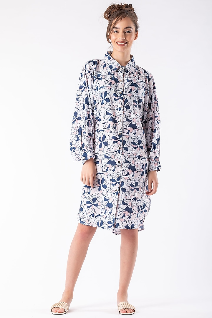 White Oversized Collared Tunic by Platform 9