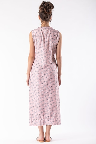 Blush Pink Dress With Belt Tie-Up by Platform 9