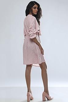 Blush Pink Digital Printed Mini Dress by Platform 9