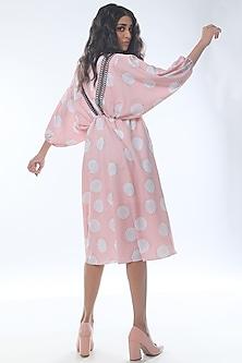 Blush Pink Printed & Flared Mini Dress by Platform 9