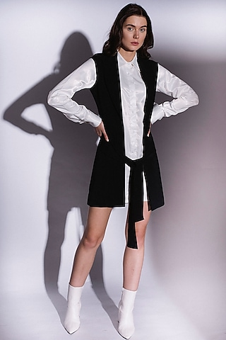 White Button Down Shirt Dress by Priyanka Gangwal
