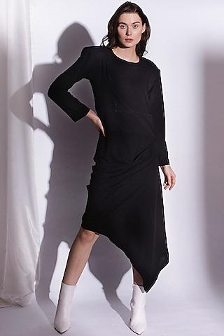 Black Asymmetrical Dress by Priyanka Gangwal