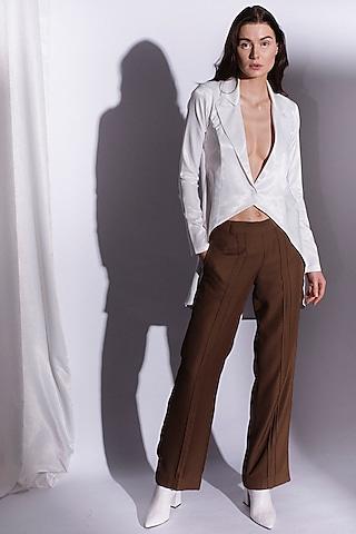 White Tailcoat Shirt by Priyanka Gangwal