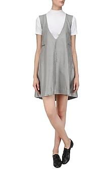 Ice Grey Slip Short Dress    by Priyanka Gangwal