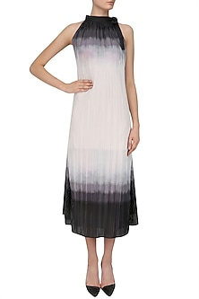 Ivory and Grey Summer Shaded Maxi Dress by Priyanka Gangwal