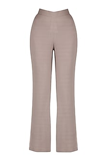 Grey Pin Stripes Bell Bottoms by Priyanka Gangwal